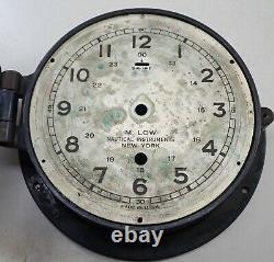 Vintage M Low New York Boat Ships Clock Bakelite Case Parts