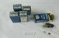 Vintage Mallory Ignition parts 4 circuit breakers 1-Condenser New old stock