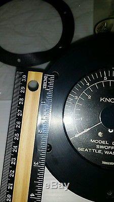 Vintage Marine Boat Knotmeter / Speedometer Swoffer Model D-510 NOS
