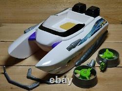 Vintage Max Steel Aqua Force MX-39 Wave Storm Boat & Accessories Missing Parts