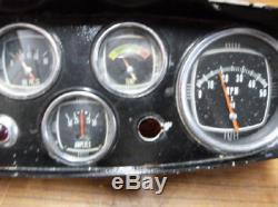 Vintage MerCruiser 5 Gauge Meter Instrument Cluster Dash Panel Ignition switch
