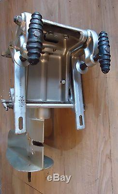 Vintage Mercury outboard racing H Tower steering swivel & transom clamp brackets