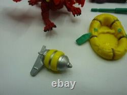 Vintage Mighty Max Doom Dragon Island Parts Lot Figures/Boat/Missile/Bomb++ 1993