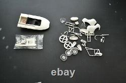 Vintage Mini boat and Triumph Motorcycle Parts Model Kit