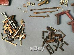 Vintage Miniature MODEL BOAT-SHIP PARTS Collection Hand-Carved Wooden Huge Lot