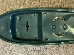 Vintage Modern Toys Trademark Boat /ship For Parts Or Repair As Is