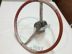 Vintage Nautalloy Airtex Boat Steering Wheel