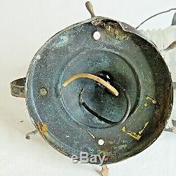 Vintage Nautical Ship Wheel Lantern Boat Light Wall Fixture Prop Parts Repair