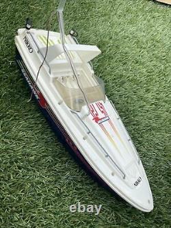 Vintage Nikko SeaHawk Radio Control R/C Boat With Remote Control For Parts