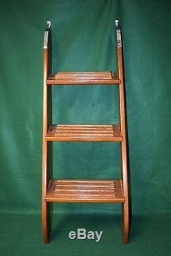 Vintage Non Folding Boat Boarding Ladder Mahogany Teak 44