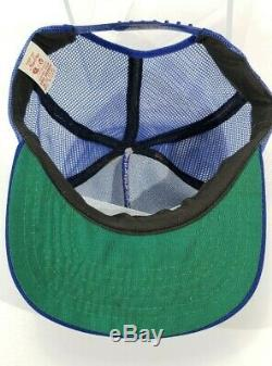 Vintage OMC Systematched Parts Boat Snapback Mesh Hat Trucker USA A17