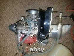 Vintage OS Max 46 Boat Outboard Parts with fuel tank