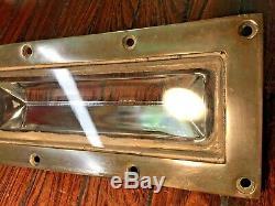 Vintage Old Abi Cast Bronze Deck Prism 12x5 Bronze Frame Beautiful Patina/age