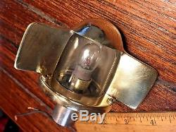 Vintage Old Polished Bronze/brass Stern Light (large Size) Yacht Jewelry
