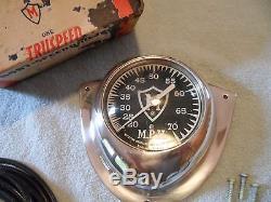 Vintage Original Wood Boat Chris Craft Muskegon Boat Speedometer Michigan 70 NOS
