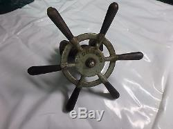 Vintage Outboard Motor Waterwitch Steering Wheel / Antique Outboard Motor Boat