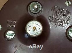 Vintage PENN Peer 209 LH LEFT HAND Saltwater Fishing Reel Surf Boat PARTS REPAIR