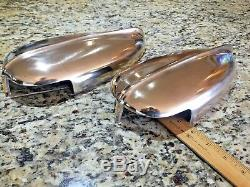 Vintage Pair Of Heavy Cast Polished Bronze Chris Craft 12 Streamlined Vents