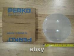 Vintage Perko Marine Frosted Glass Dome Light Lense 7 1/2 #132 Boat Part