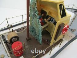 Vintage RC Boat Coast Guard vessel nkok 49 megahertz for parts
