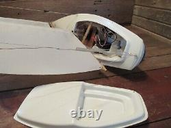 Vintage RC Remote Control Sail Boat 24 With Sails RESTORATION Or PARTS