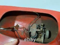 Vintage Racing RC Remote Control Painted Metal Boat For Parts Or Repair