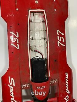 Vintage Racing RC Remote Control Plastic Boat For Parts Or Repair