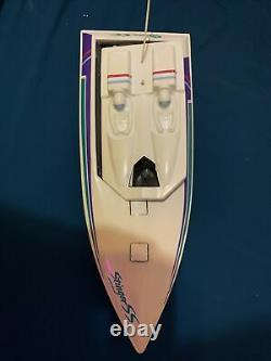 Vintage Radio Shack Stinger RC Control Boat For Parts Or Repair
