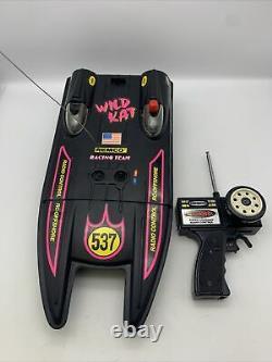 Vintage Remco Radio Control R/C Speed Boat Supercharged WILD KAT Parts or Repair