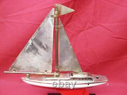 Vintage SWANK Sailboat Table Lighter Nautical/Ship/Boat Parts None Working