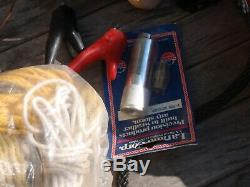 Vintage Sail Or Motor Boat Parts, Rope, Deck Hardware 2 Pumps, Larand, Fender