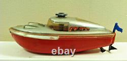Vintage Schuco TELECO 3003 Wind-Up Boat. Incomplete. For Parts or Restoration