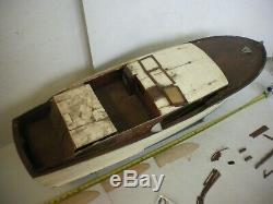 Vintage Sterling 42' CHRIS CRAFT CORVETTE R/C Model Boat with2 Motors Many Parts