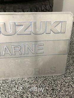 Vintage Suzuki Marine Boat Dealer Sign Parts And Accessories Motorcycles
