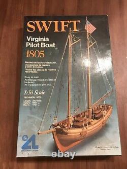 Vintage Swift Virginia Pilot Boat 1805 Kit Wood 150 For Parts READ