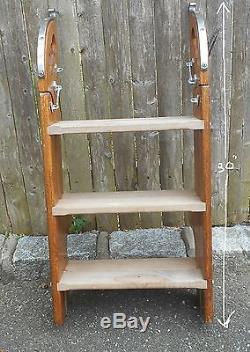 Vintage Teak Boarding Ladder Transom Chris Craft Egg