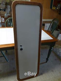 Vintage Teak Framed Pre-Hung Cabin Door Mirror Boat Marine Perko Sport Craft