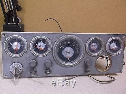 Vintage Teleflex Boat Marine Instrument Panel Dash Gauge Cluster FREE SHIPPING