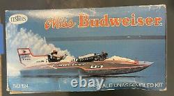Vintage Testors Miss Budweiser Race Boat Withadded Extra Chrome Parts Pack Allison