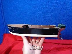 Vintage Toy Boat & Motor Sold For Parts Or Restoration