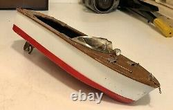 Vintage Toy Fleet Line Speedboat Battery Operated Not Tested Parts
