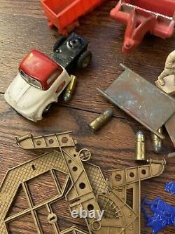 Vintage Toy lot Cars Tin Etc. Parts Auburn MPC 60s Army Cots Boat