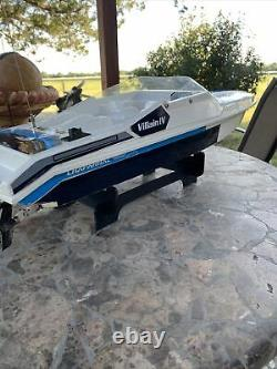 Vintage Traxxas Boat Villain Speed Boat Parts Or Repair