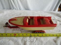 Vintage Truck Boat Trailer Tonka Clipper Plastic Ship Restore Parts Red White