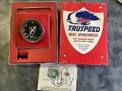 Vintage Truspeed Boat Speedometer, accessories parts watercraft