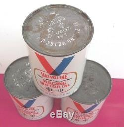 Vintage Valvoline Racing Motor Oil (3 cans)