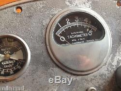 Vintage Volvo Penta Chris Craft Boat Instrument Gage Panel Parts Light