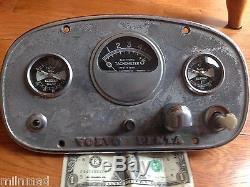Vintage Volvo Penta Chris Craft Boat Instrument Gauge Panel Parts Light