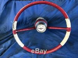 Vintage WC Wilcox Crittenden Motor Speed Boat Steering Wheel W C