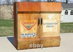 Vintage Wagner Lockheed Parts Tool Cabinet Box Auto Gas Station Service Old